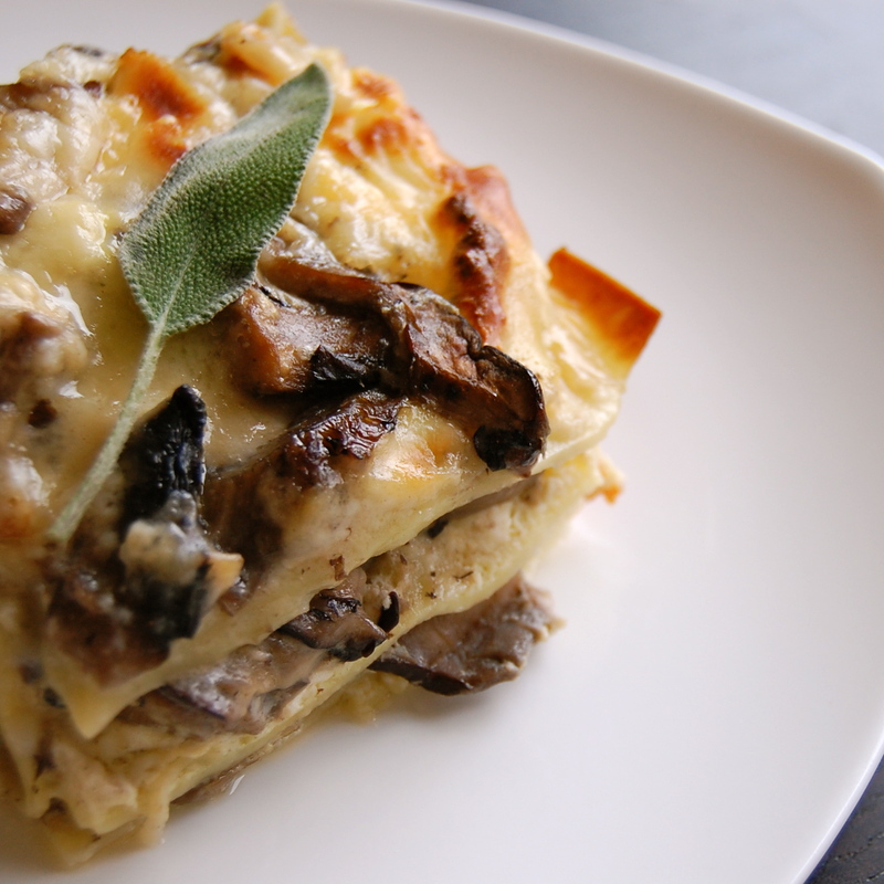 the petite pig: brown butter-sage mushroom lasagna